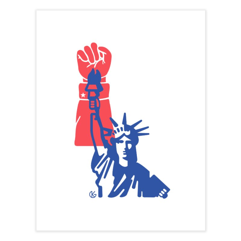 Liberty For All Home Fine Art Print by Kevin's Pop Shop