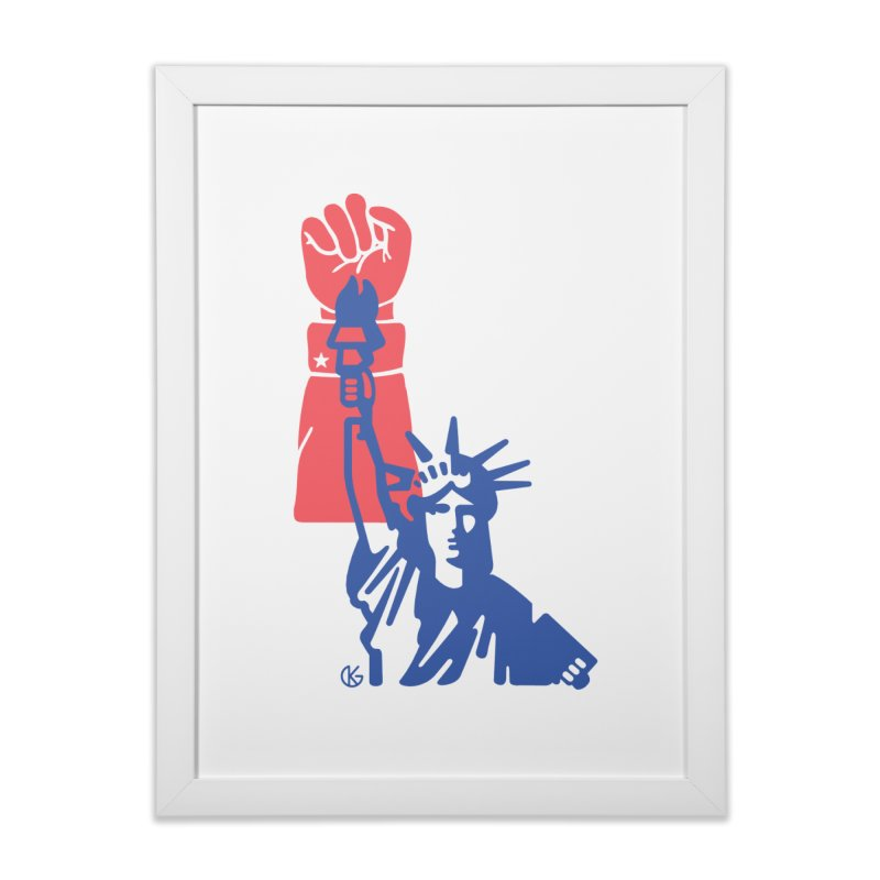 Liberty For All Home Framed Fine Art Print by Kevin's Pop Shop