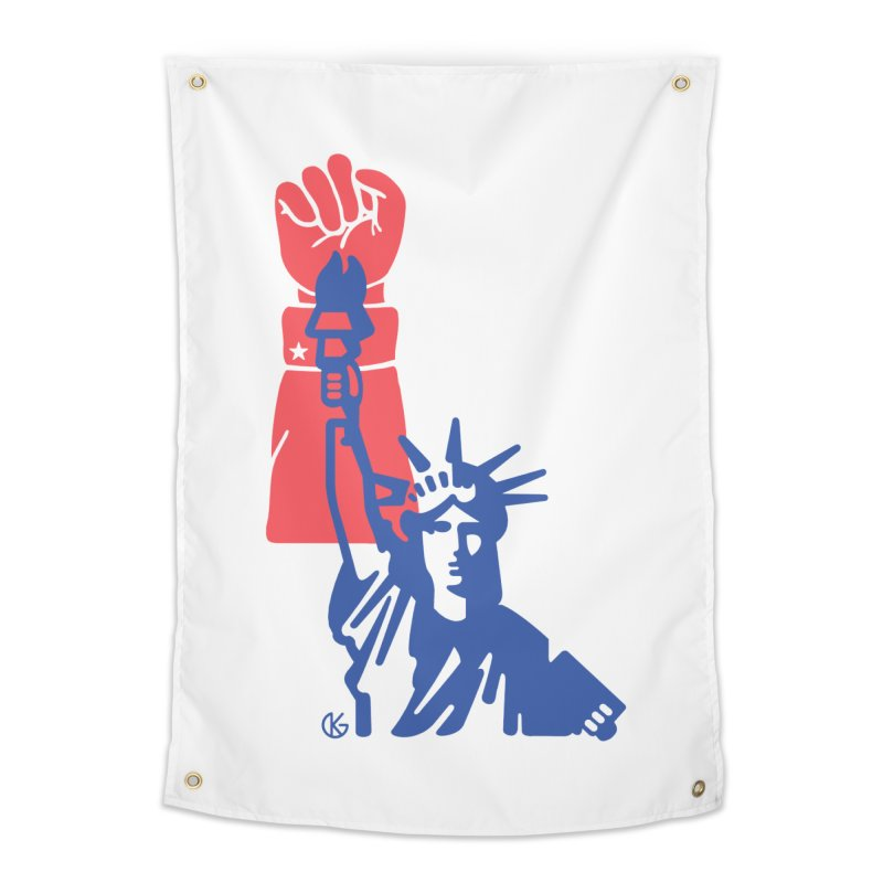 Liberty For All Home Tapestry by Kevin's Pop Shop