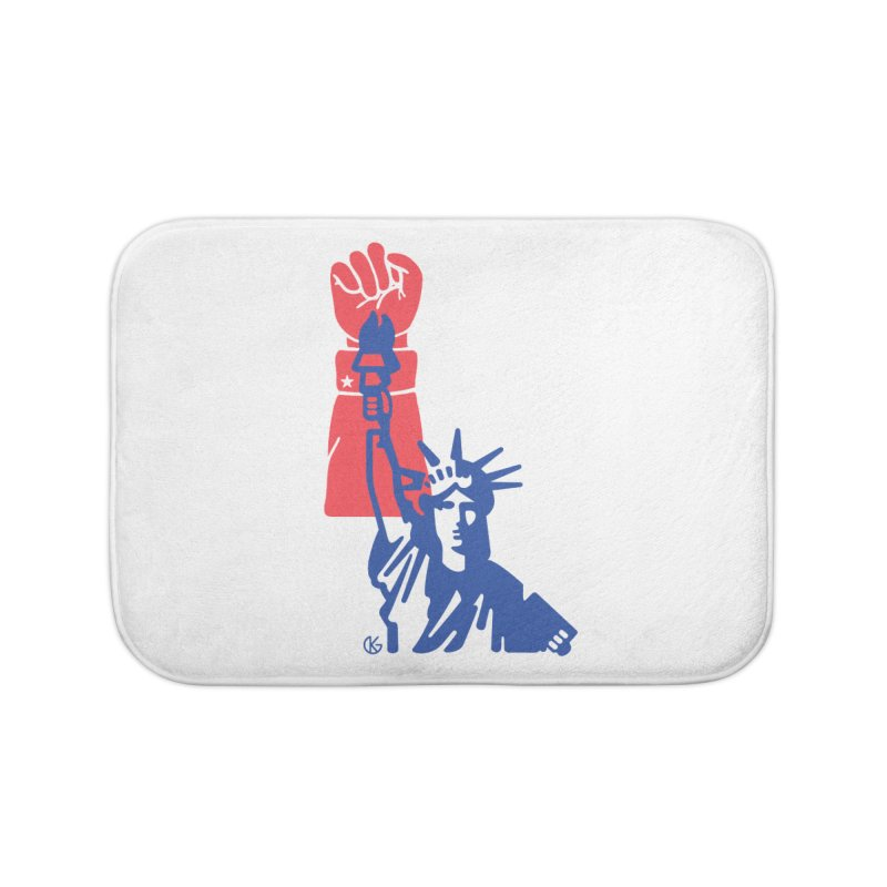 Liberty For All Home Bath Mat by Kevin's Pop Shop