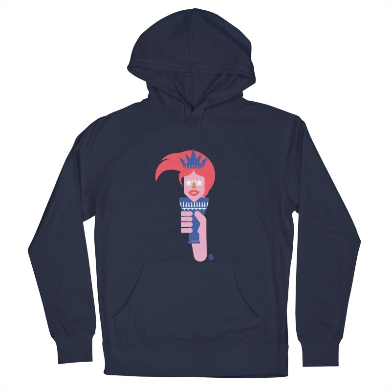 Lady Liberty Women's French Terry Pullover Hoody by Kevin's Pop Shop