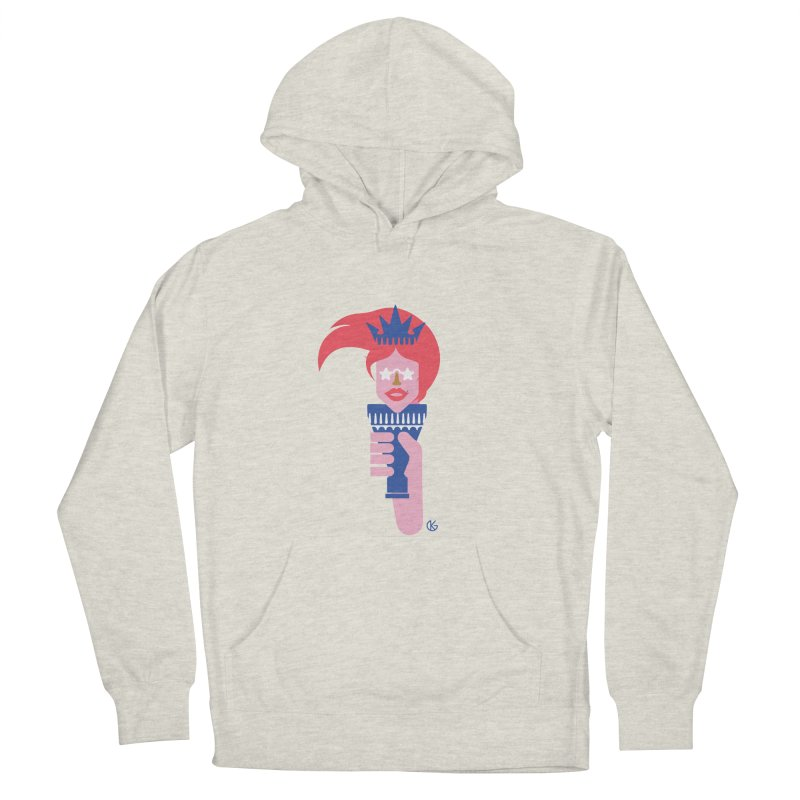 Lady Liberty Men's French Terry Pullover Hoody by Kevin's Pop Shop