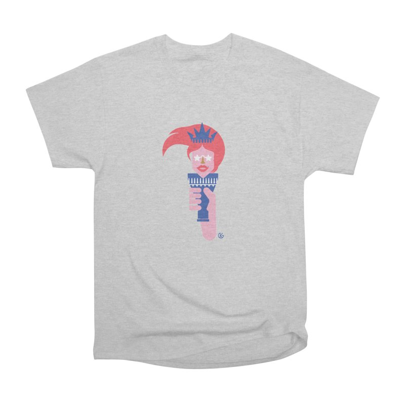 Lady Liberty Men's Heavyweight T-Shirt by Kevin's Pop Shop