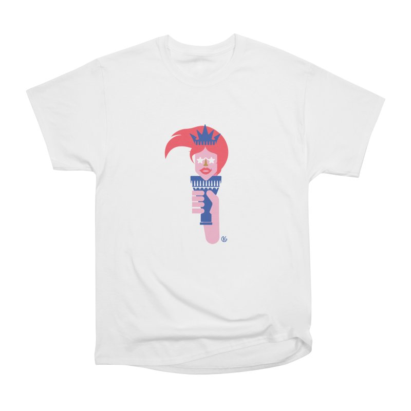 Lady Liberty Women's Heavyweight Unisex T-Shirt by Kevin's Pop Shop