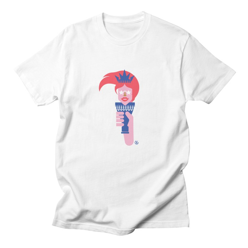 Lady Liberty Women's Regular Unisex T-Shirt by Kevin's Pop Shop