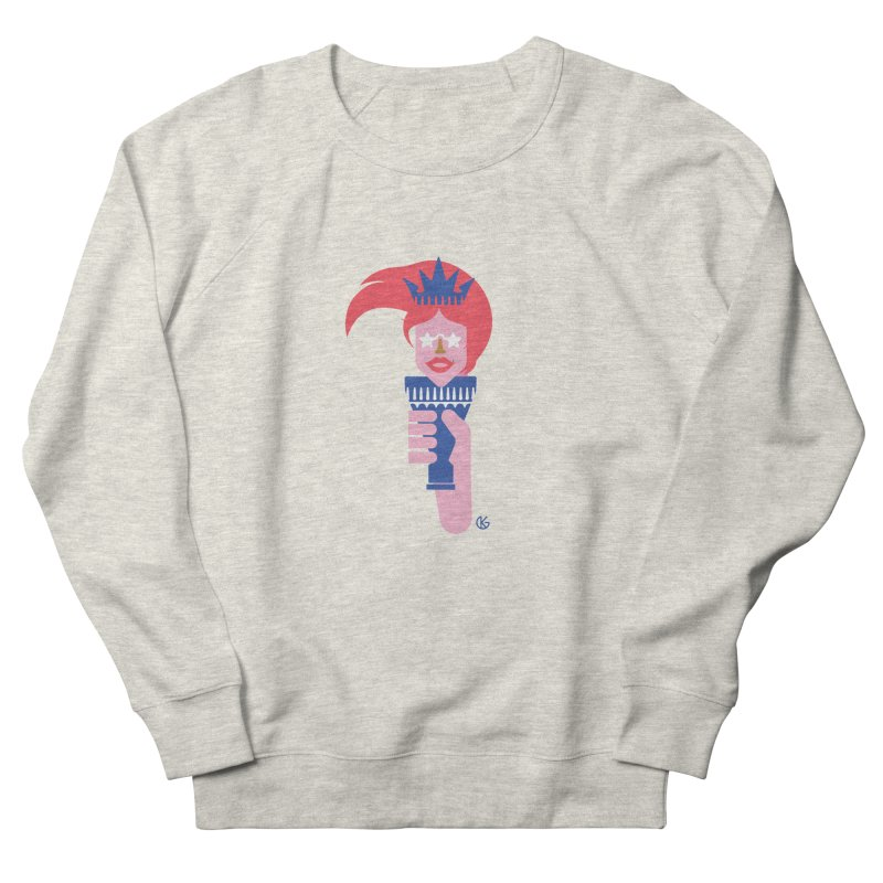 Lady Liberty Women's French Terry Sweatshirt by Kevin's Pop Shop