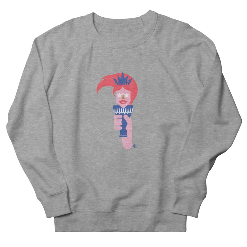 Lady Liberty Men's French Terry Sweatshirt by Kevin's Pop Shop