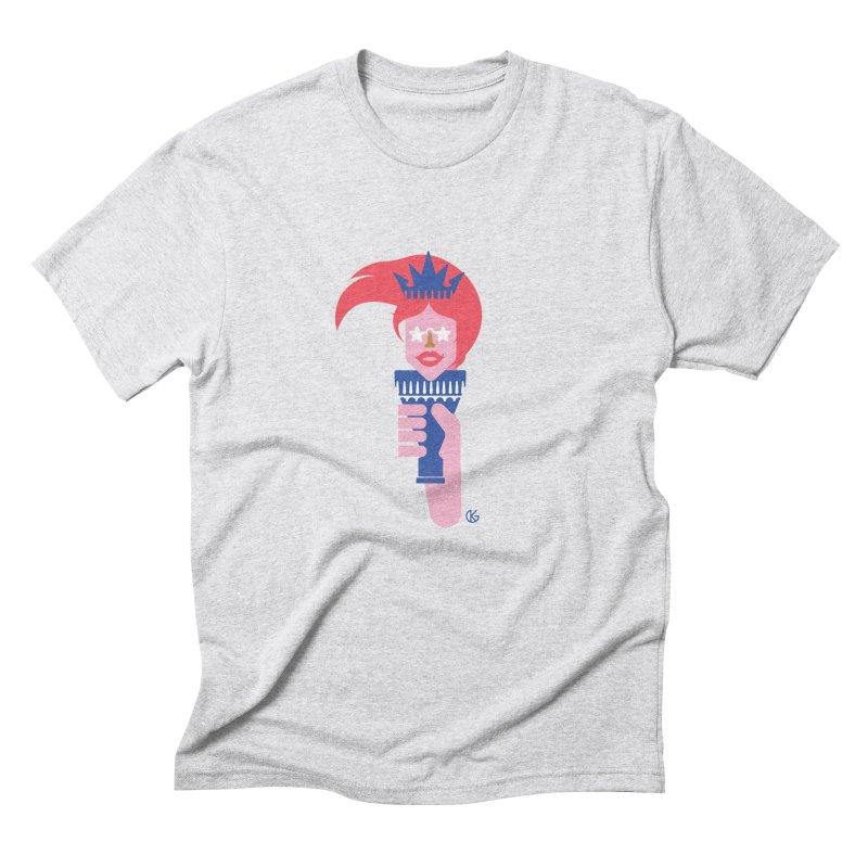 Lady Liberty Men's Triblend T-Shirt by Kevin's Pop Shop