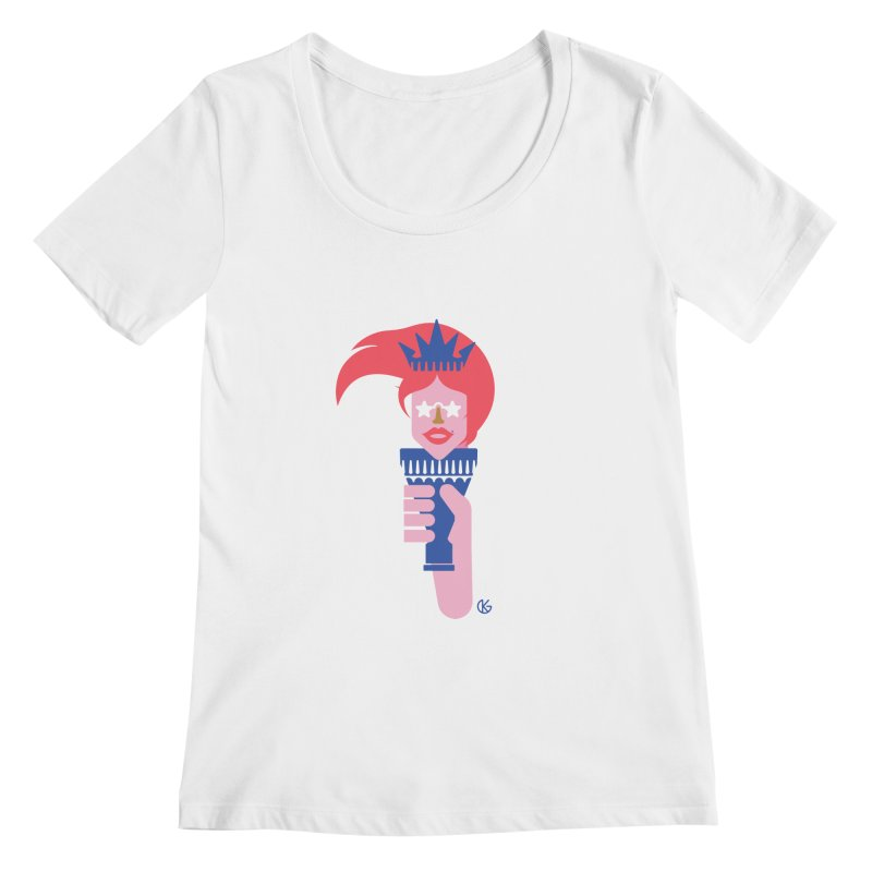 Lady Liberty Women's Regular Scoop Neck by Kevin's Pop Shop