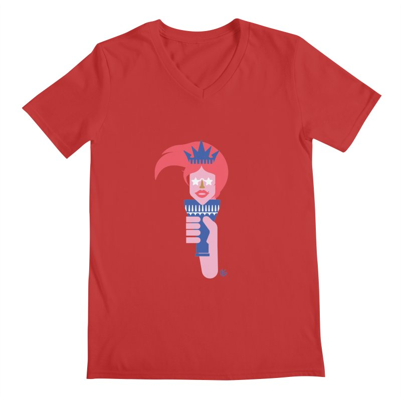Lady Liberty Men's Regular V-Neck by Kevin's Pop Shop