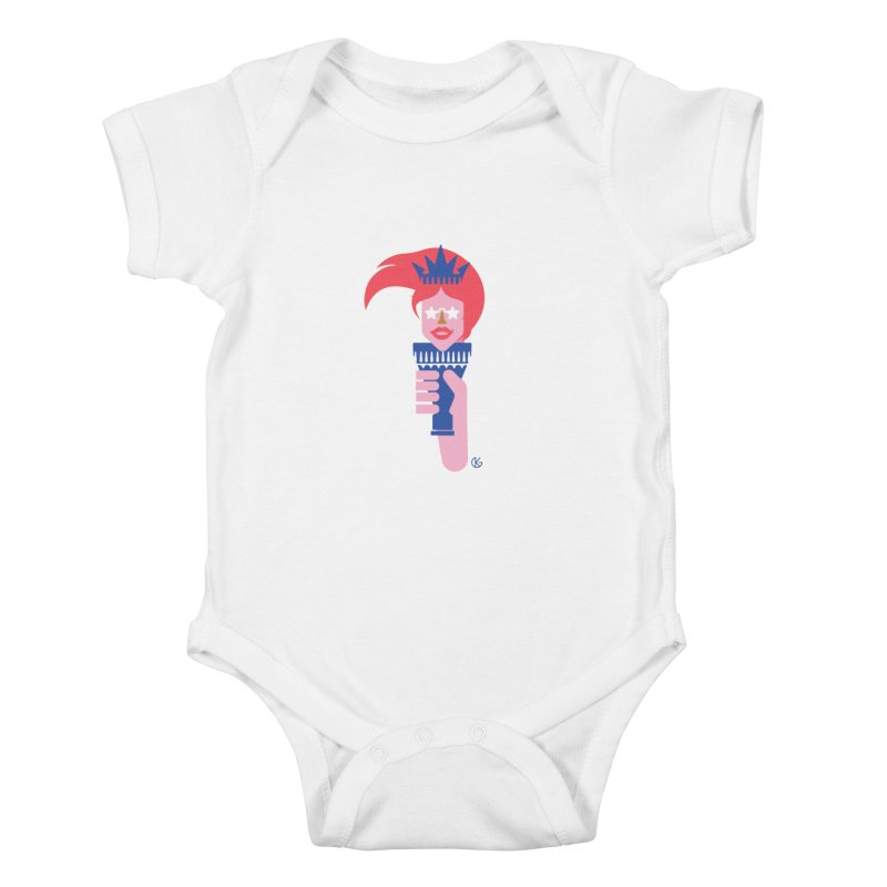 Lady Liberty Kids Baby Bodysuit by Kevin's Pop Shop