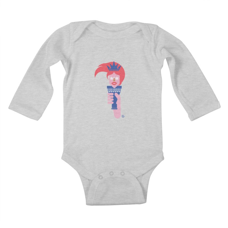 Lady Liberty Kids Baby Longsleeve Bodysuit by Kevin's Pop Shop