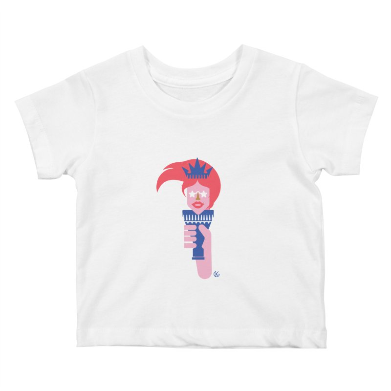 Lady Liberty Kids Baby T-Shirt by Kevin's Pop Shop