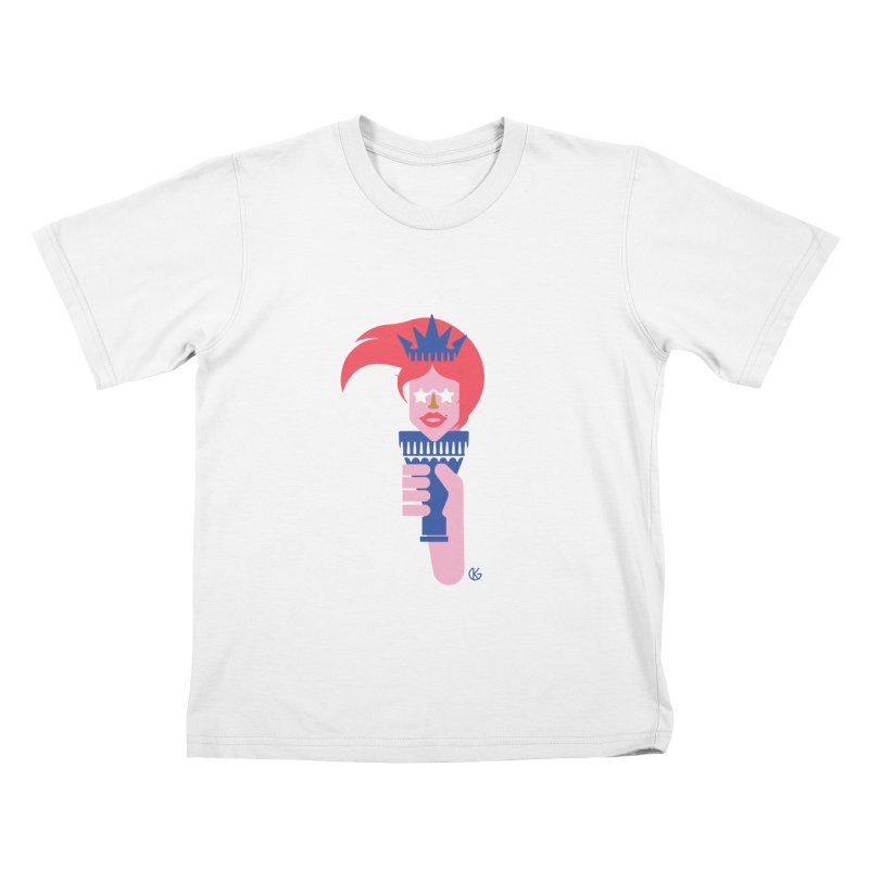 Lady Liberty Kids T-Shirt by Kevin's Pop Shop