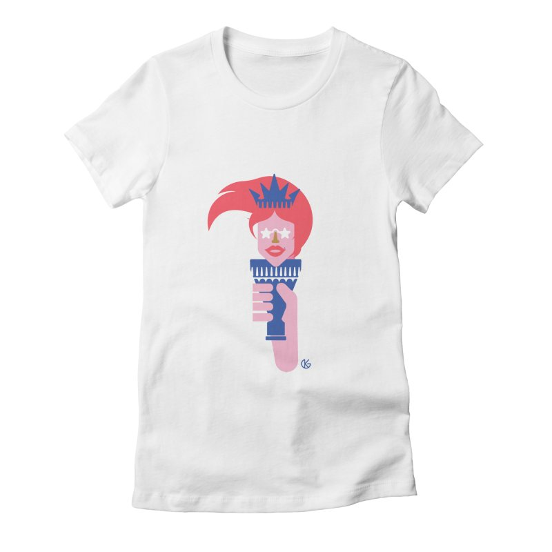 Lady Liberty Women's T-Shirt by Kevin's Pop Shop