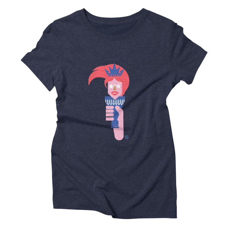 Lady Liberty Women's Triblend T-Shirt by Kevin's Pop Shop
