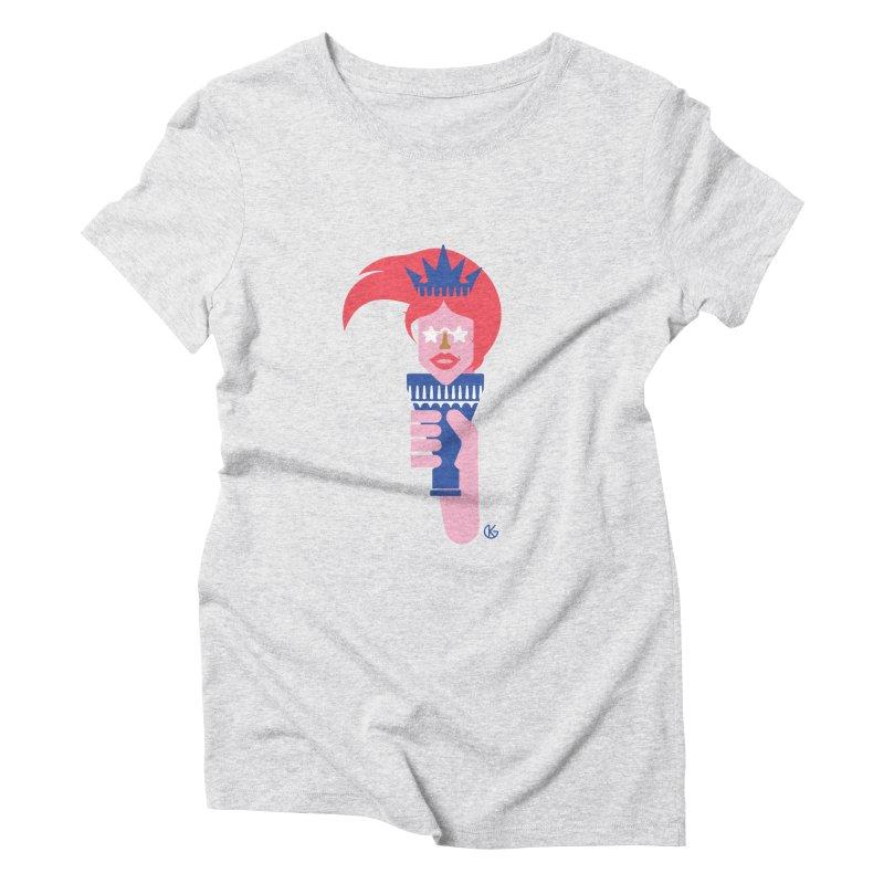 Lady Liberty Women's T-Shirt by Kevin's Pop Shop