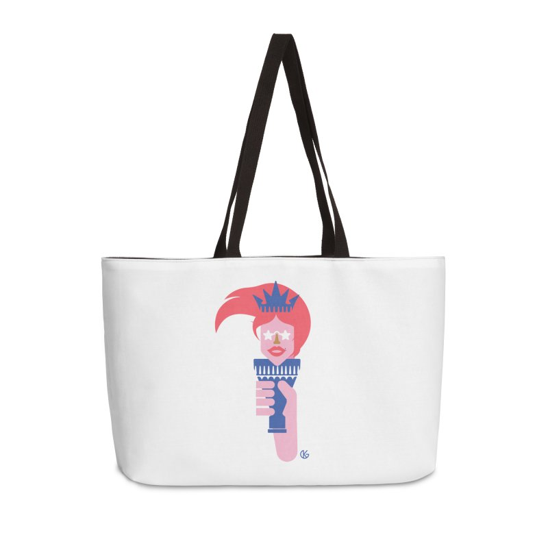 Lady Liberty Accessories Weekender Bag Bag by Kevin's Pop Shop