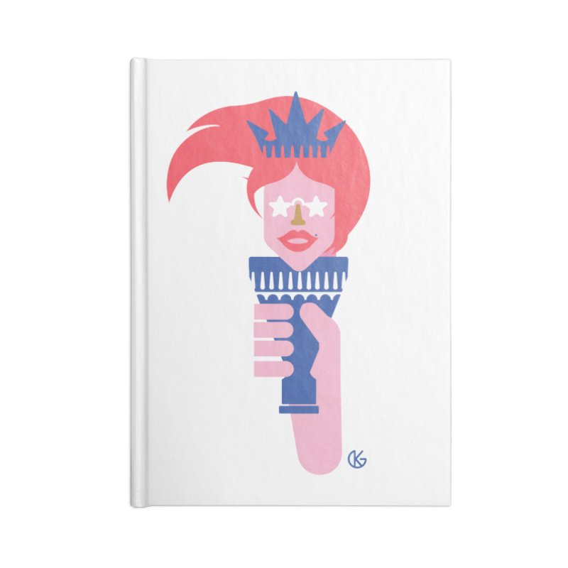Lady Liberty Accessories Lined Journal Notebook by Kevin's Pop Shop