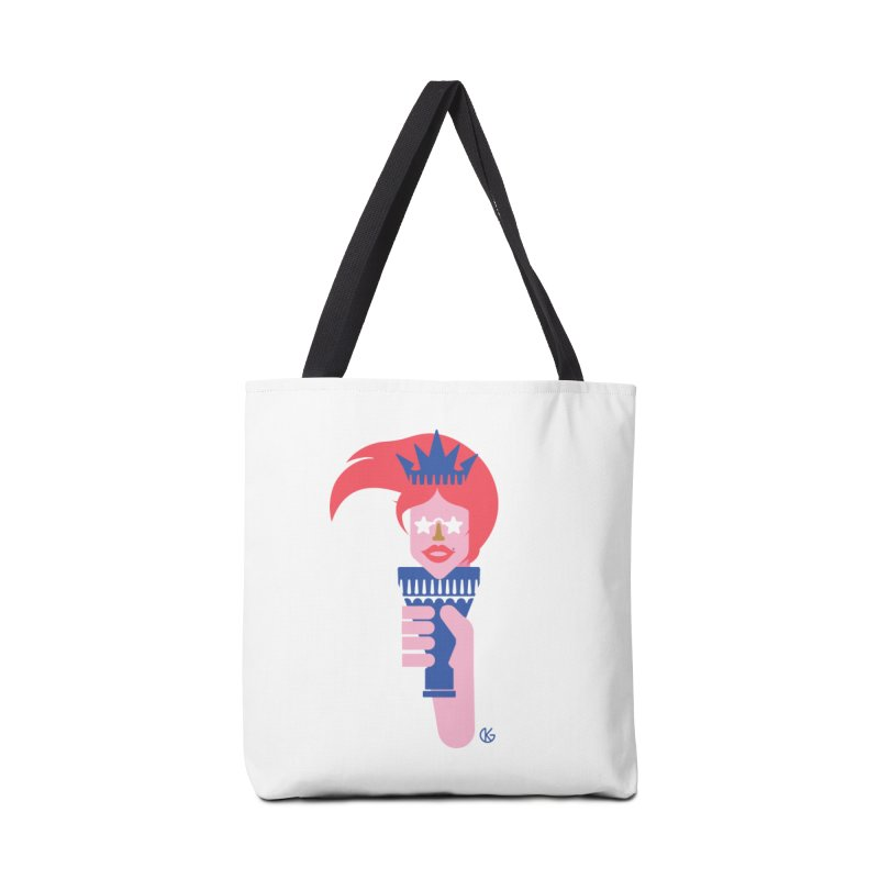Lady Liberty Accessories Tote Bag Bag by Kevin's Pop Shop