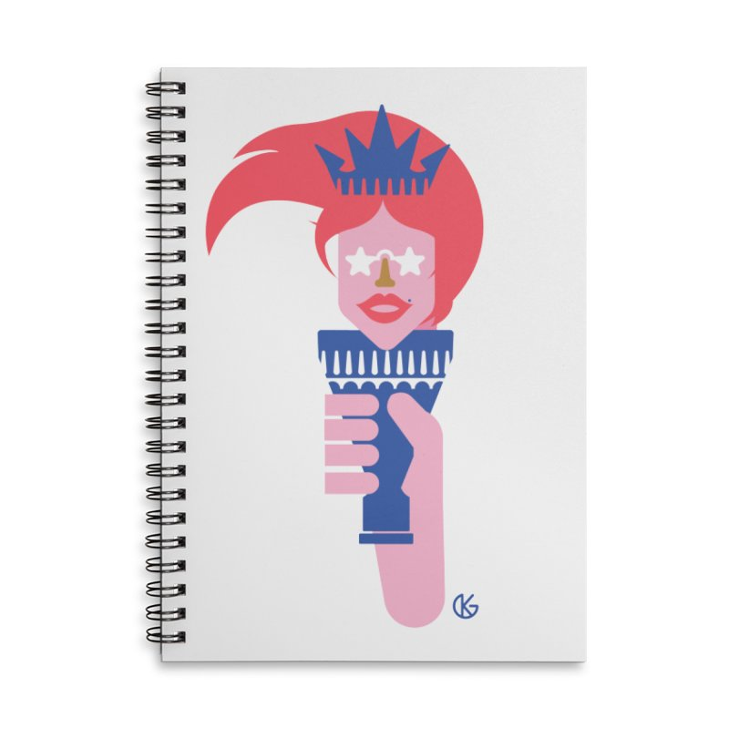 Lady Liberty Accessories Notebook by Kevin's Pop Shop