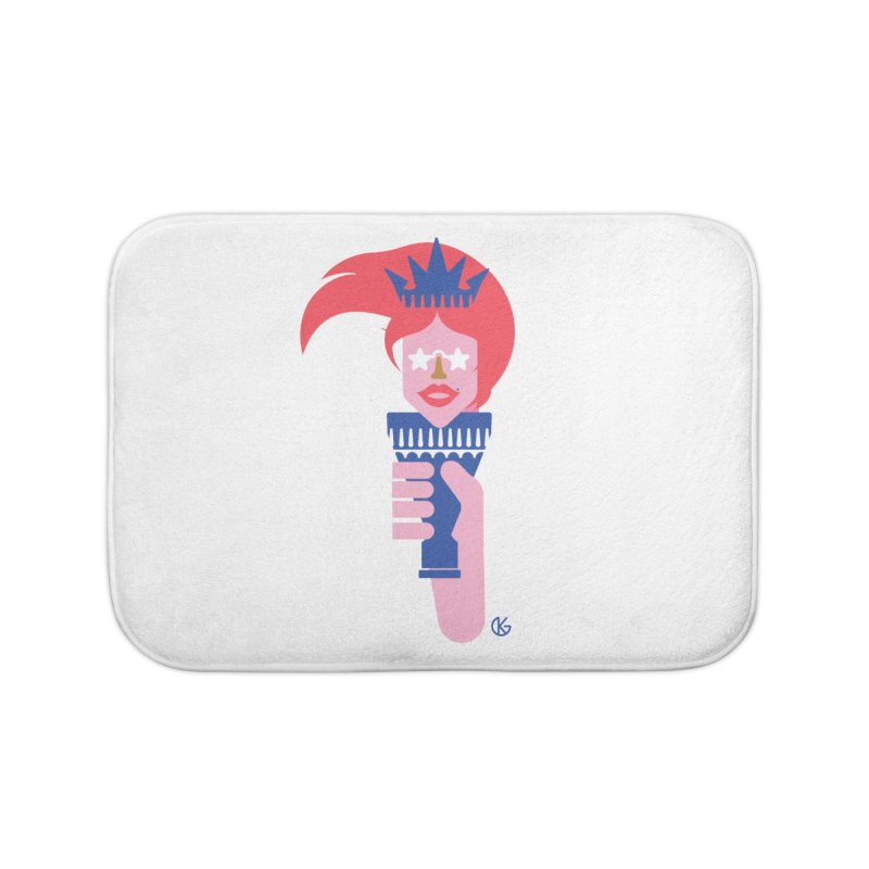 Lady Liberty Home Bath Mat by Kevin's Pop Shop