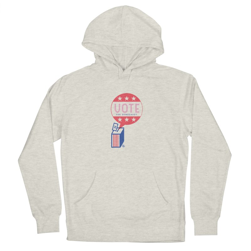 Vote for Democracy Men's Pullover Hoody by Kevin's Pop Shop