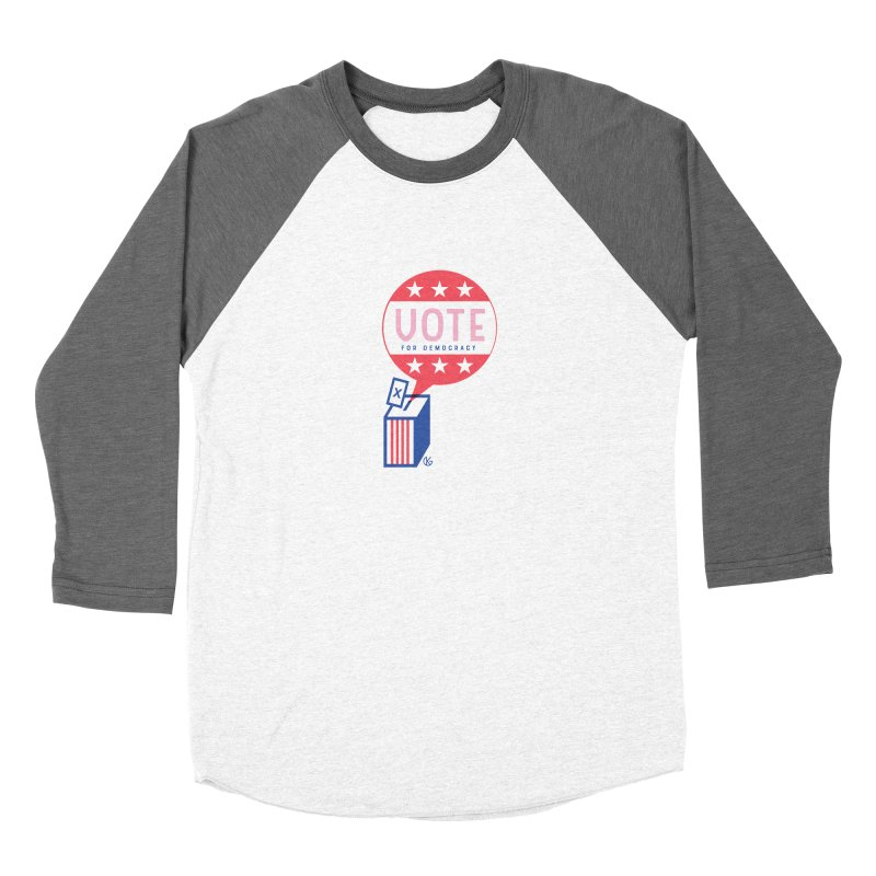 Vote for Democracy Men's Longsleeve T-Shirt by Kevin's Pop Shop