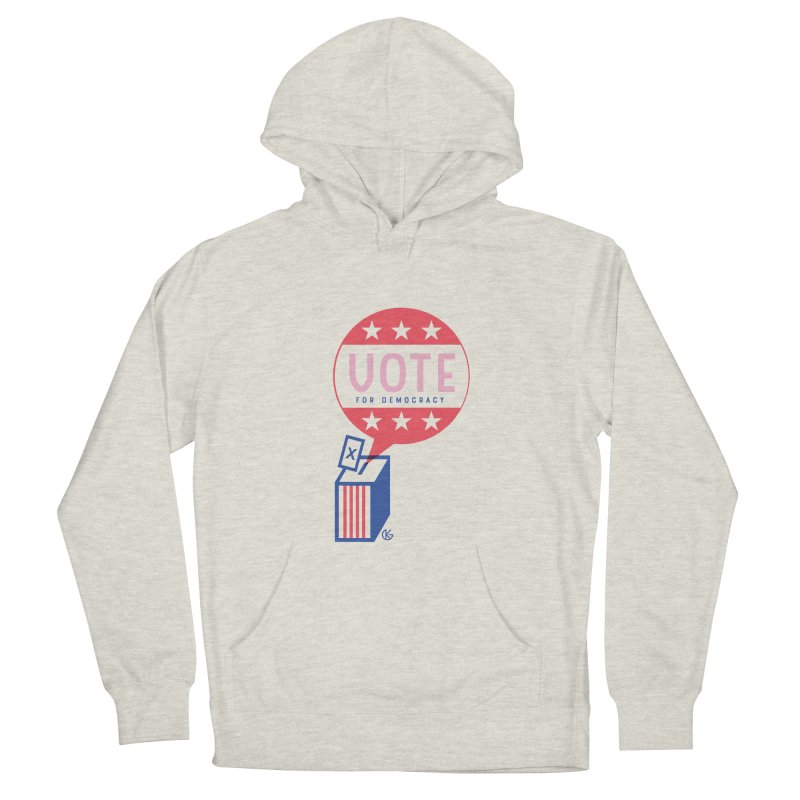 Vote for Democracy Men's French Terry Pullover Hoody by Kevin's Pop Shop