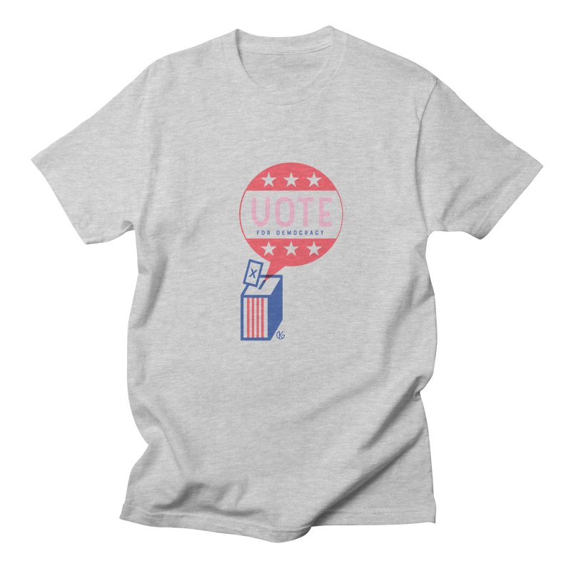 Vote for Democracy Men's Regular T-Shirt by Kevin's Pop Shop