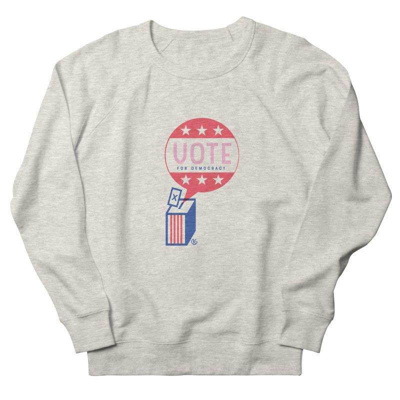Vote for Democracy Women's Sweatshirt by Kevin's Pop Shop
