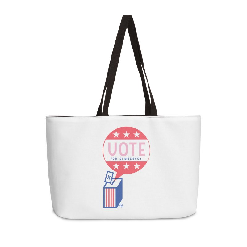 Vote for Democracy Accessories Weekender Bag Bag by Kevin's Pop Shop