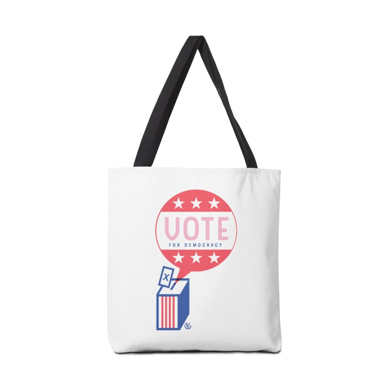 Vote for Democracy Accessories Tote Bag Bag by Kevin's Pop Shop