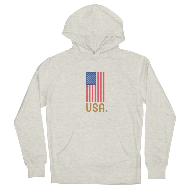Flag USA Men's Pullover Hoody by Kevin's Pop Shop