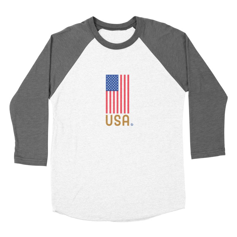 Flag USA Men's Longsleeve T-Shirt by Kevin's Pop Shop