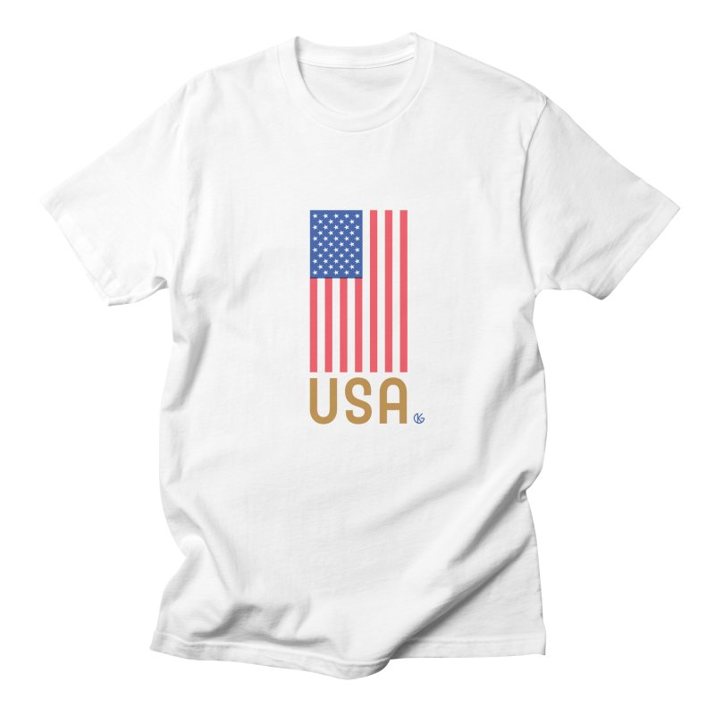 Flag USA Men's Regular T-Shirt by Kevin's Pop Shop
