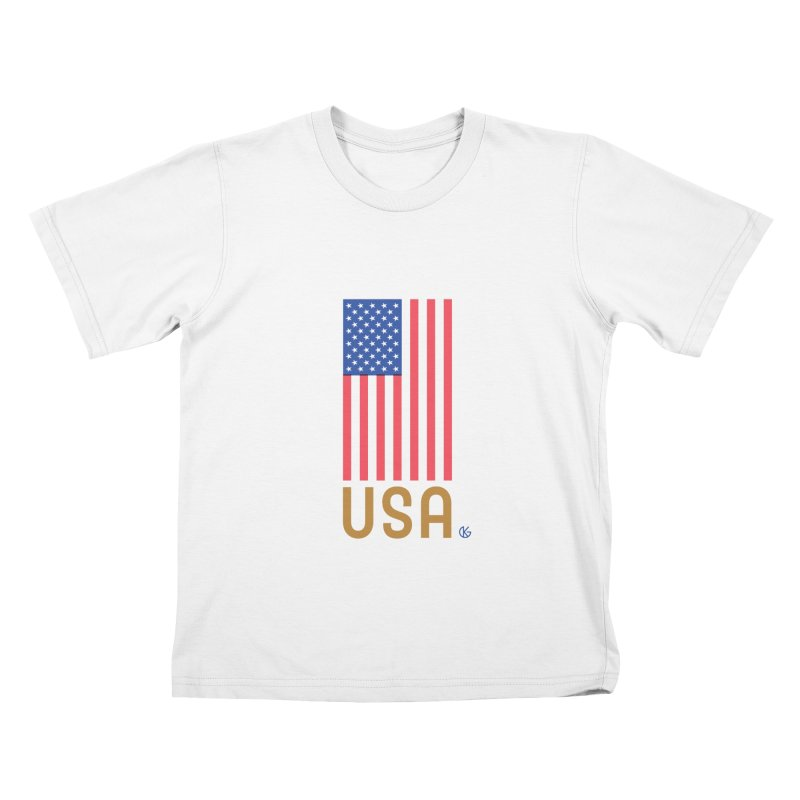 Flag USA Kids T-Shirt by Kevin's Pop Shop