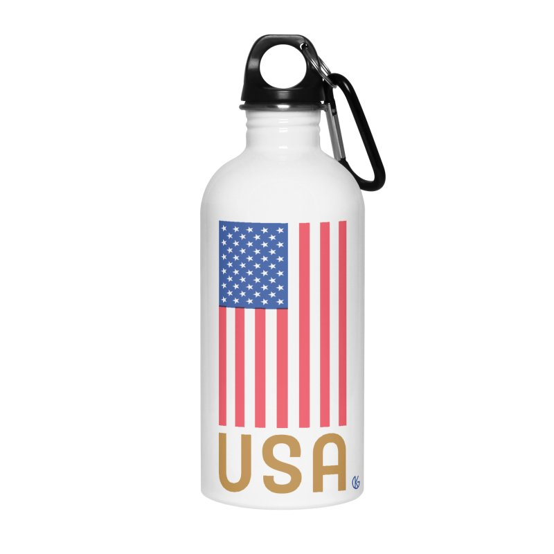 Flag USA Accessories Water Bottle by Kevin's Pop Shop