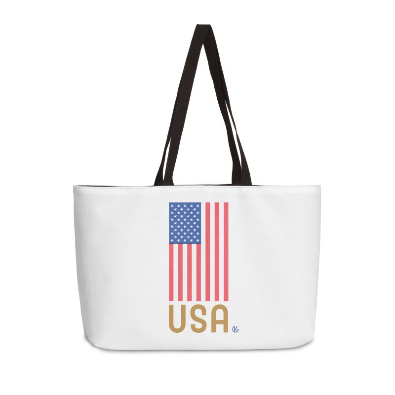 Flag USA Accessories Weekender Bag Bag by Kevin's Pop Shop