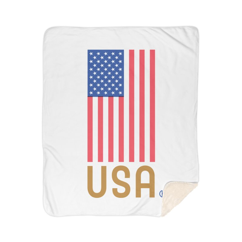Flag USA Home Blanket by Kevin's Pop Shop