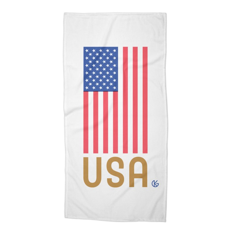 Flag USA Accessories Beach Towel by Kevin's Pop Shop