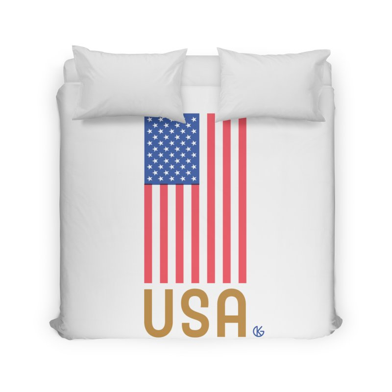 Flag USA Home Duvet by Kevin's Pop Shop