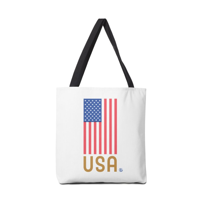 Flag USA Accessories Tote Bag Bag by Kevin's Pop Shop