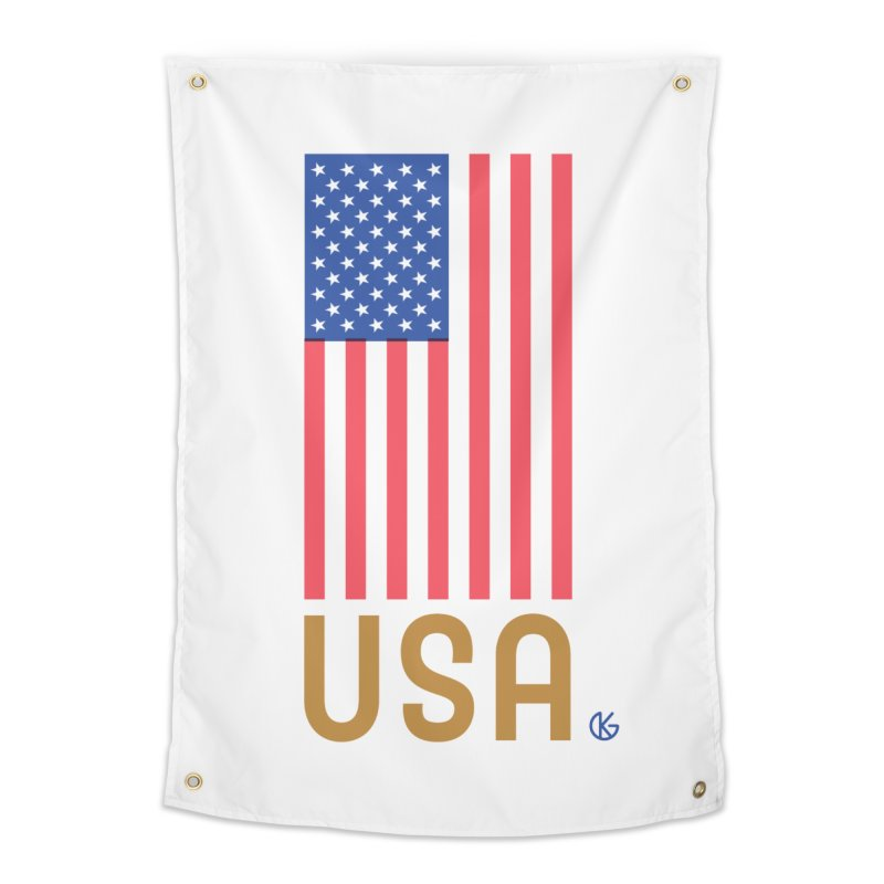 Flag USA Home Tapestry by Kevin's Pop Shop