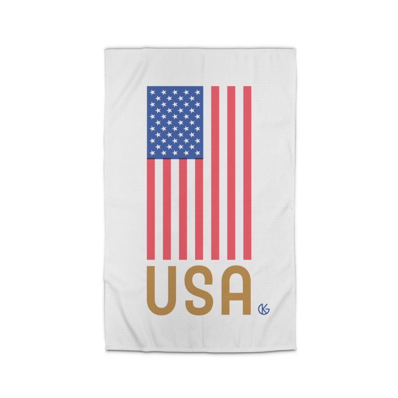 Flag USA Home Rug by Kevin's Pop Shop