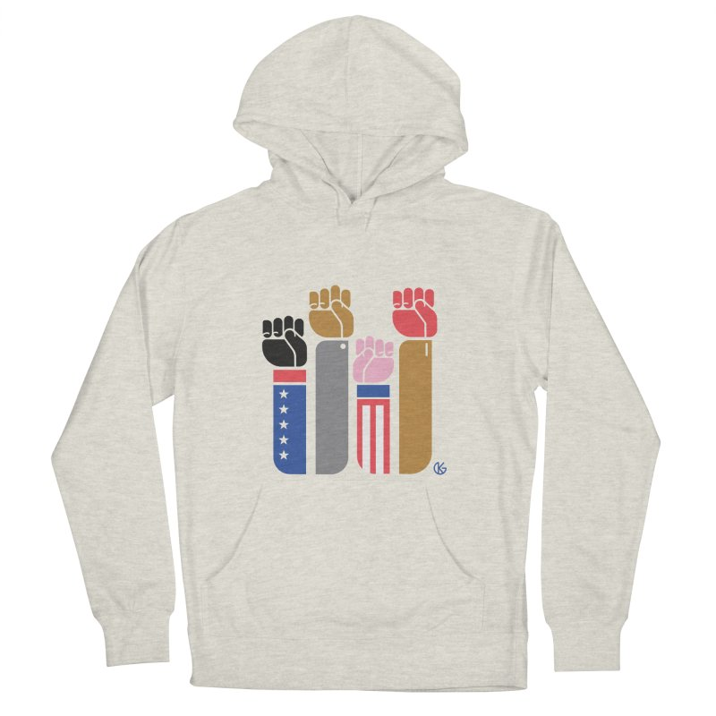 United We Stand Men's French Terry Pullover Hoody by Kevin's Pop Shop