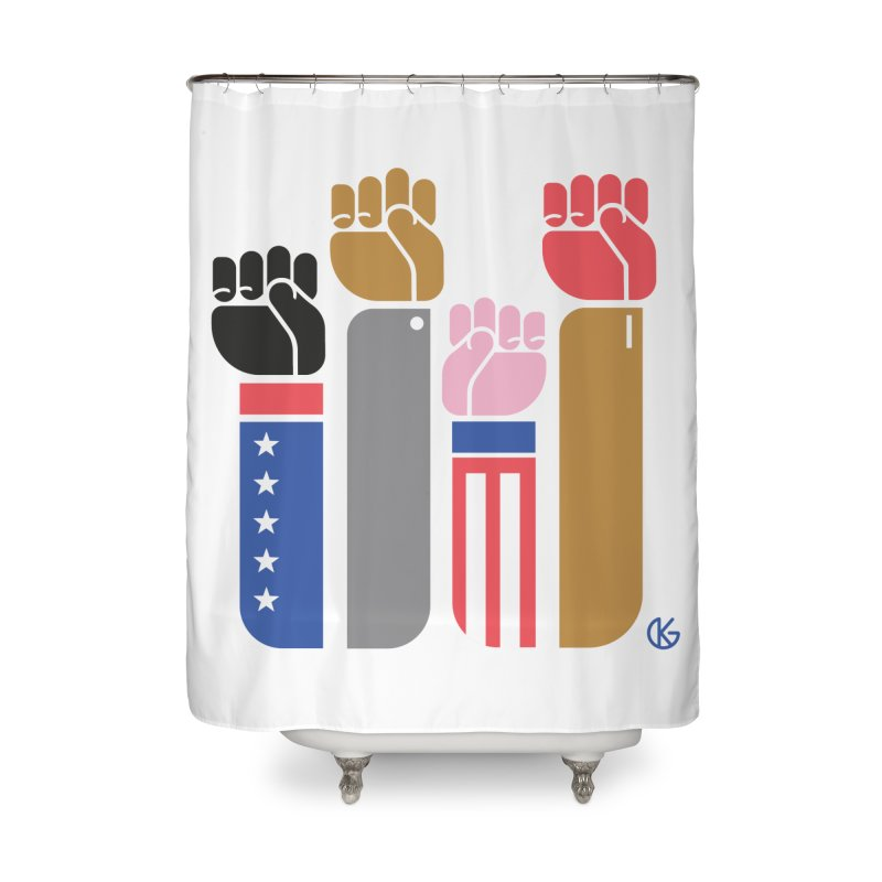 United We Stand Home Shower Curtain by Kevin's Pop Shop