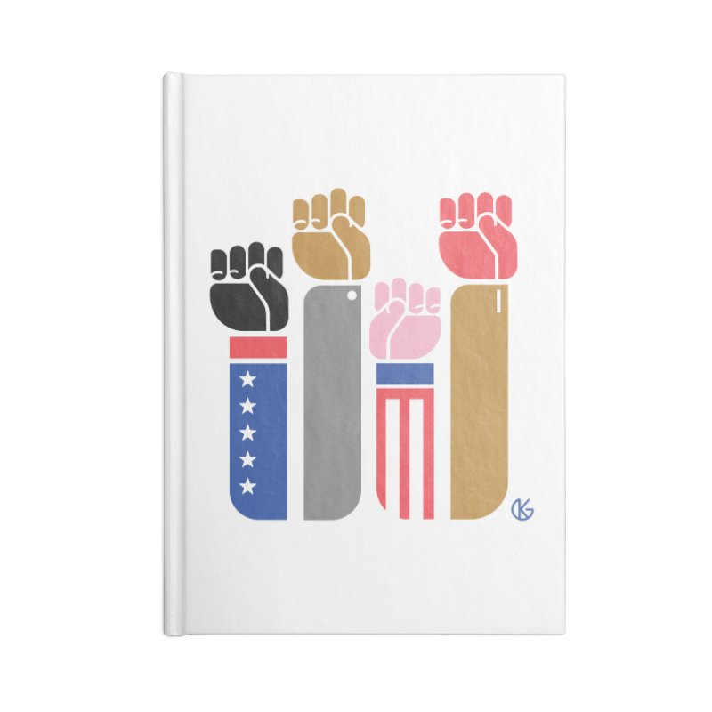 United We Stand Accessories Blank Journal Notebook by Kevin's Pop Shop