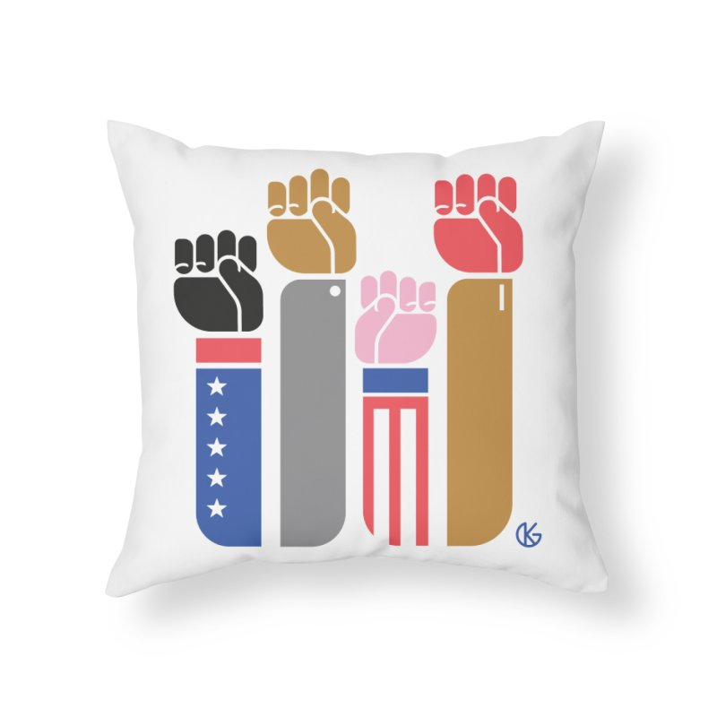 United We Stand Home Throw Pillow by Kevin's Pop Shop