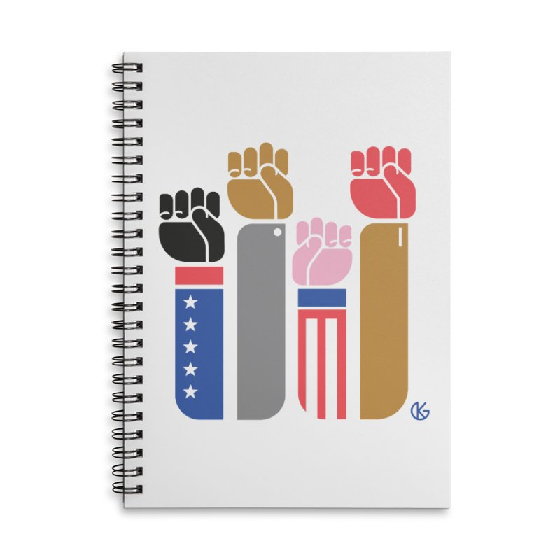 United We Stand Accessories Lined Spiral Notebook by Kevin's Pop Shop